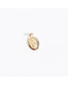 Pingente Medalha Anjo da Guarda em Ouro Amarelo