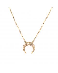 Gargantilha Moon com Diamantes em Ouro Amarelo