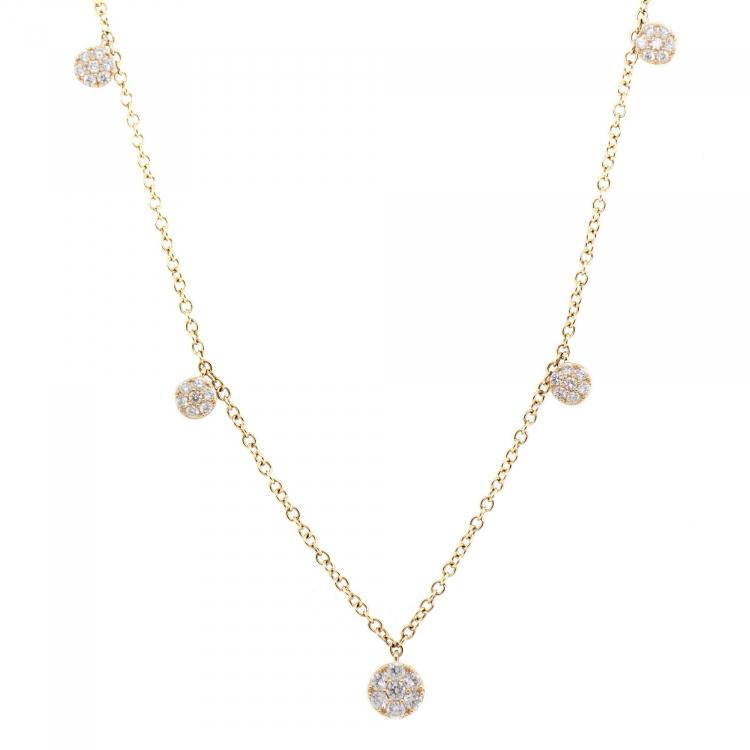 Gargantilha com Diamantes em Ouro Amarelo