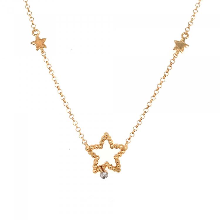 Gargantilha Estrela em Ouro Amarelo