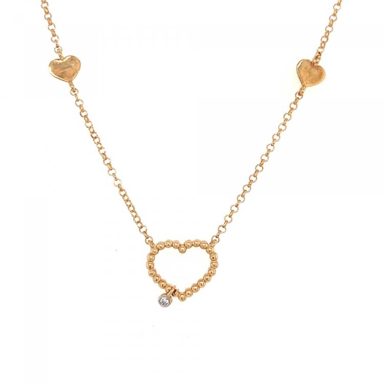 Gargantilha Coração em Ouro Amarelo
