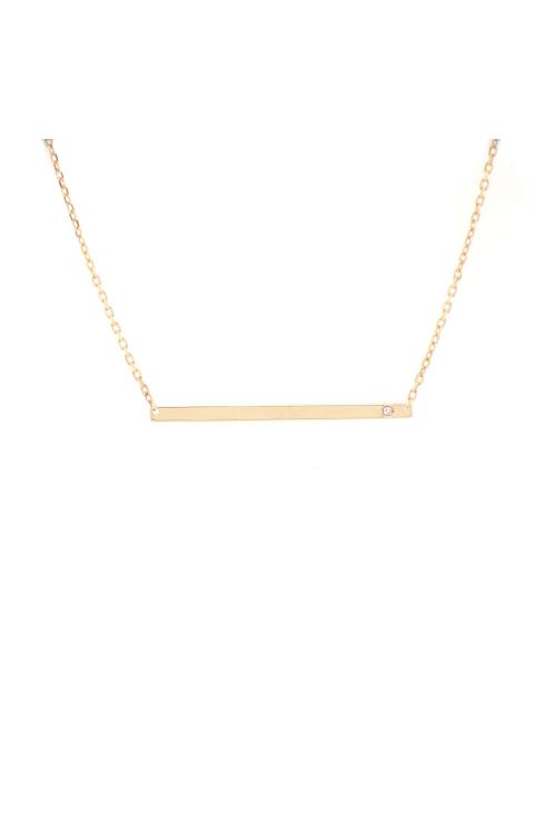 Gargantilha Sign com Diamante em Ouro Amarelo